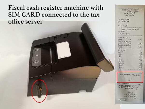 Fiscal Cash register machine in Bosnia